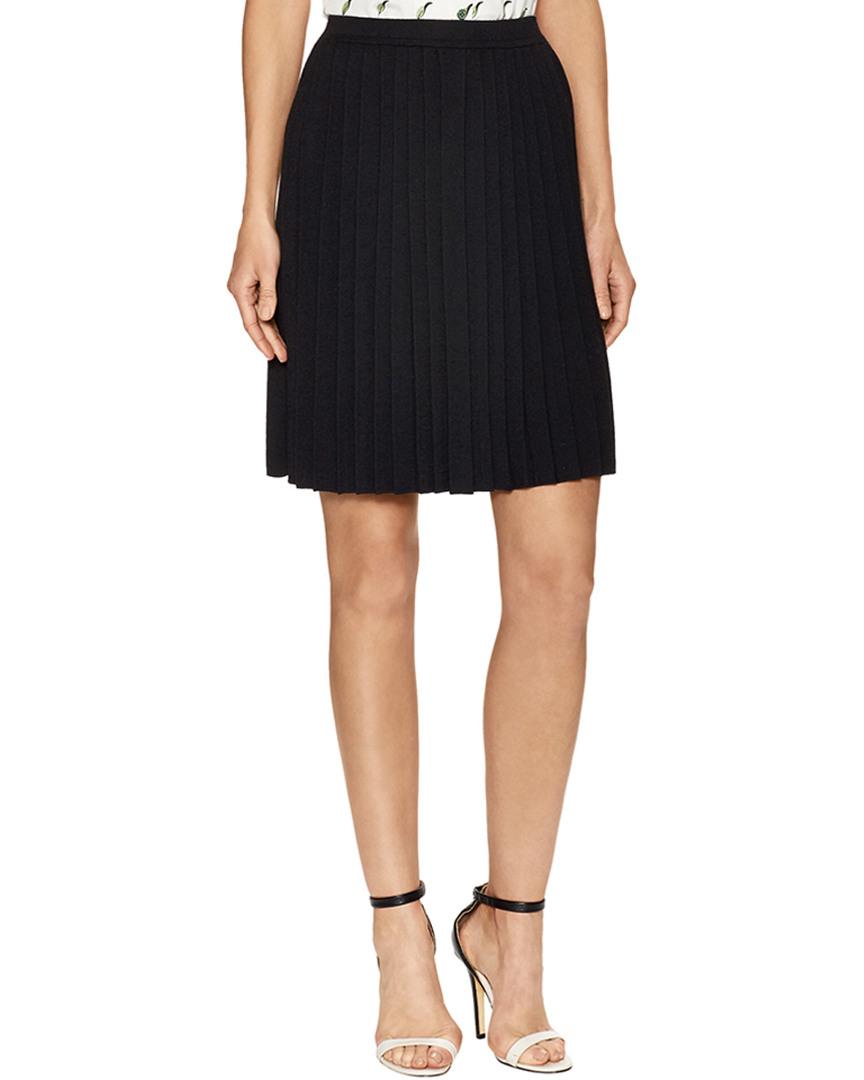 Carolina Herrera Wool Pleated Skirt 14118091850000