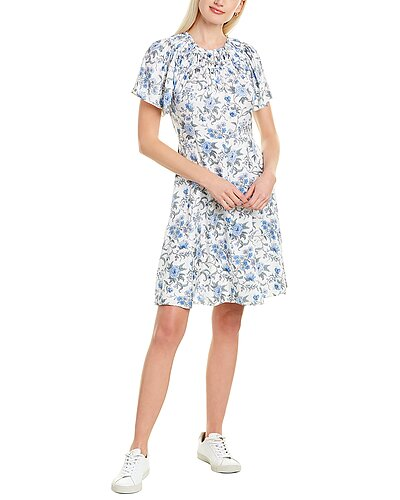 Rue La La — Rebecca Taylor Esmee Fleur Silk-Blend Mini Dress