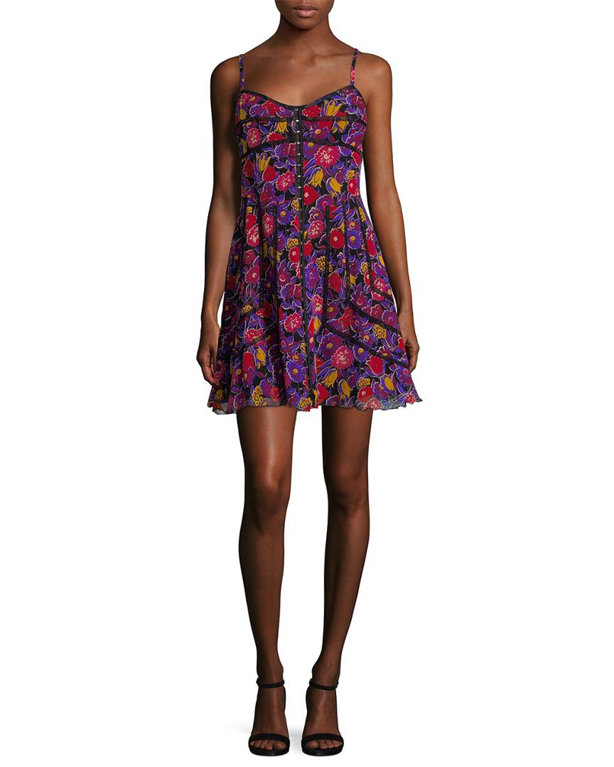 Anna Sui FLORAL PRINT MINI DRESS