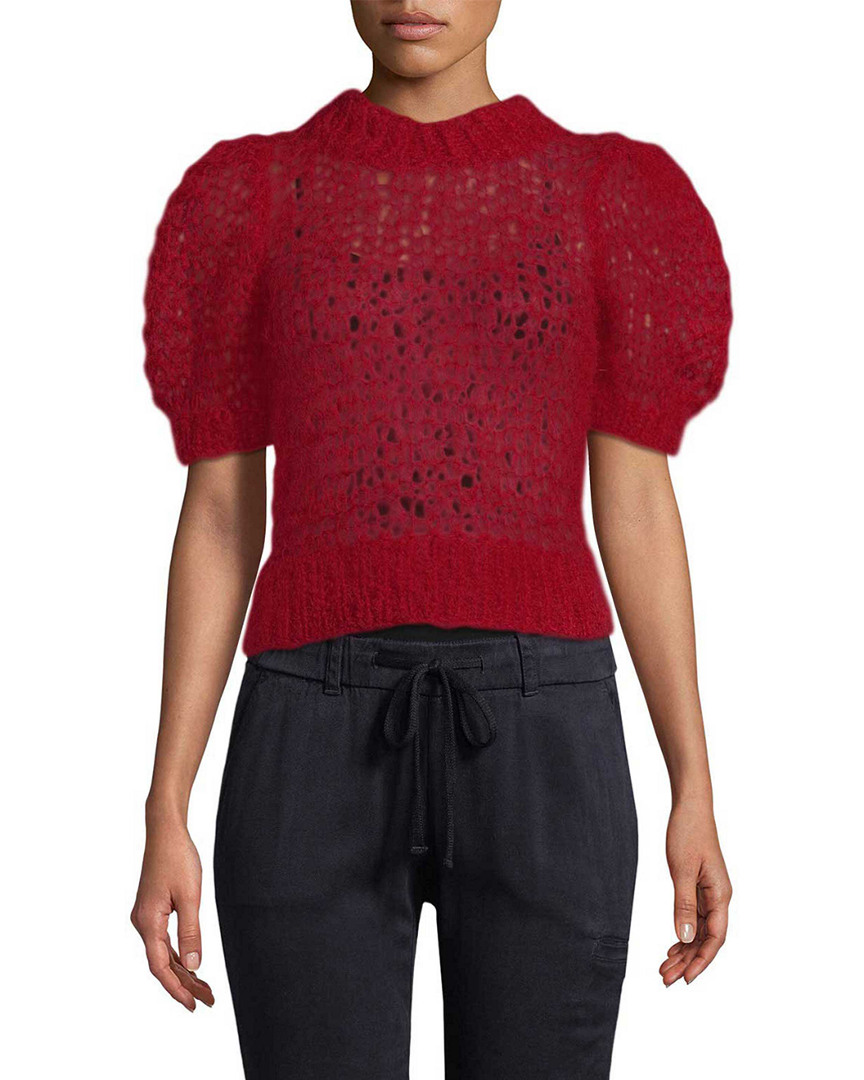Jill Stuart MOHAIR CROP SWEATER