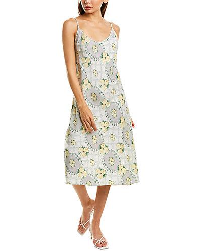 Rue La La — FEITH CLUB Floral Silk Slip Dress