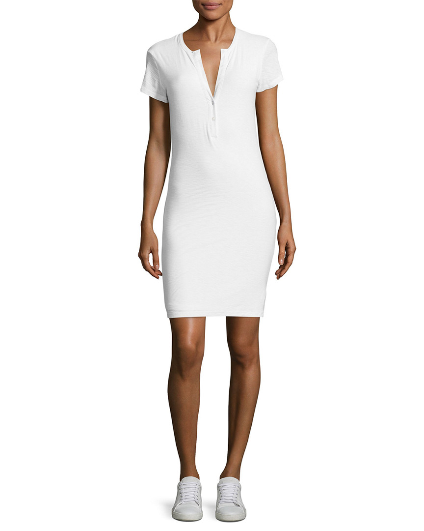 James Perse SOLID HENLEY DRESS