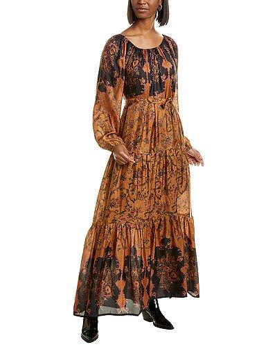Rue La La — Mes Demoiselles Mexico Silk Maxi Dress