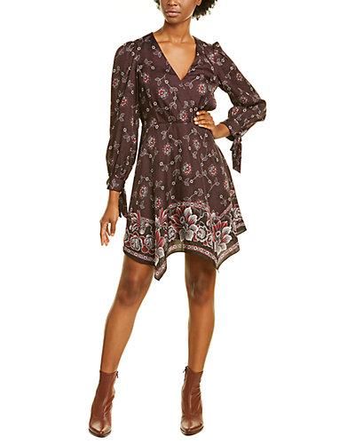 Rue La La — Rebecca Taylor A-Line Silk-Blend Dress