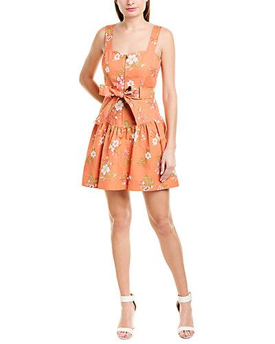 Rue La La — Rebecca Taylor Lita Linen-Blend A-Line Dress