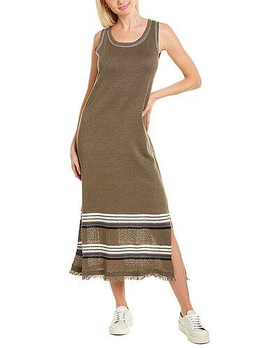 Rue La La — Lisa Todd The Riviera Linen-Blend Midi Dress