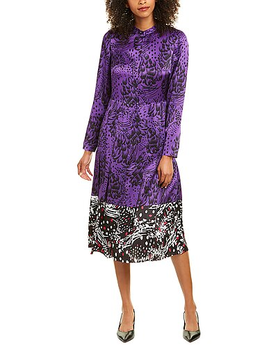 Rue La La — ESCADA Dillasa Silk Midi Dress