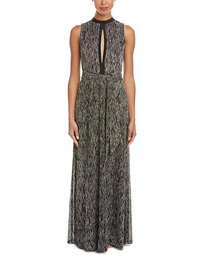 alice + olivia Ramon Silk-Trim Maxi Dress