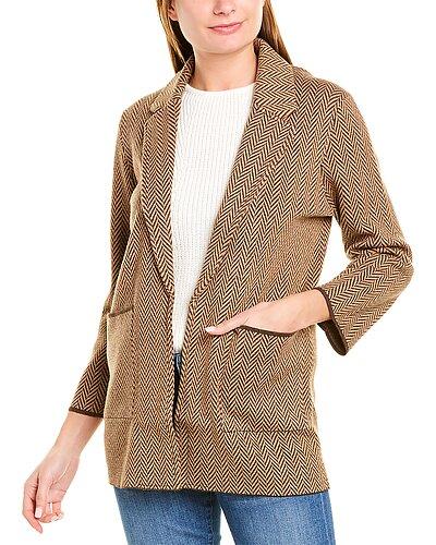 Rue La La — J.Crew Sophie Chevron Wool-Blend Sweater