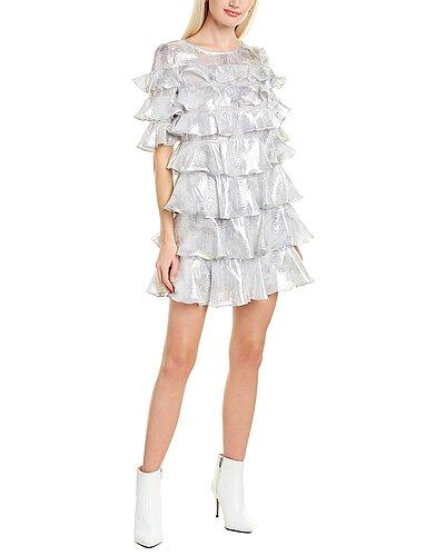 Rue La La — Rebecca Taylor Lily Ruffle Silk-Blend Mini Dress