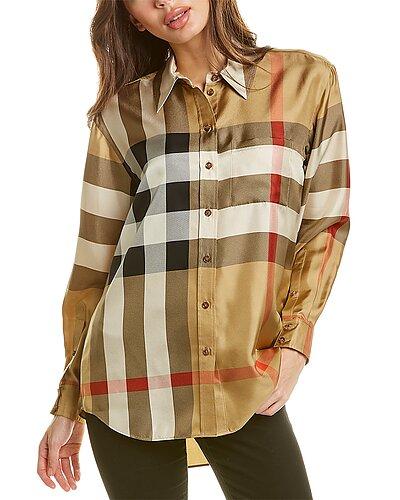 Rue La La — Burberry Carlotta Silk Shirt