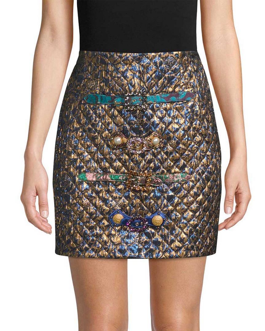 Dolce   Gabbana Womens Jacquard   Quilted Mini Skirt 64d904ce5e3