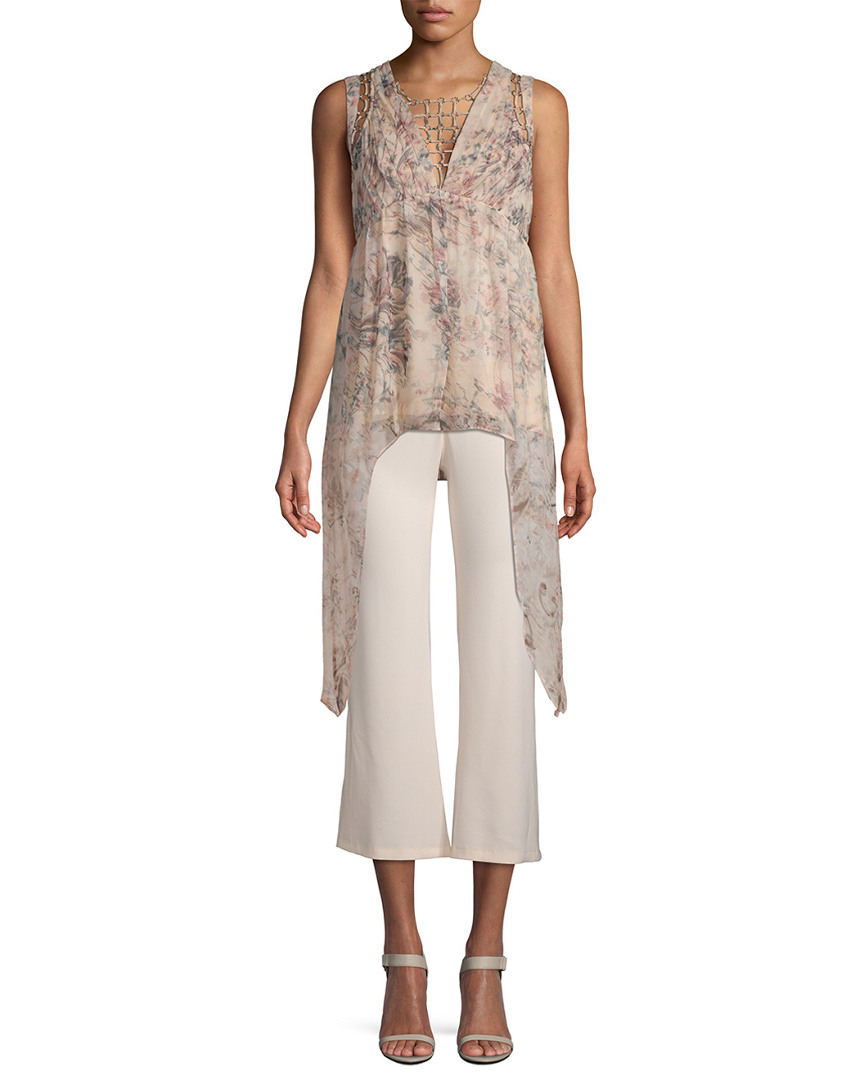 Haute Hippie SILK DRAPE TOP