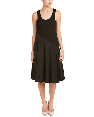 Sportmax Silk-Trim A-Line Dress