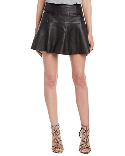 Joie Briza B Leather Skirt