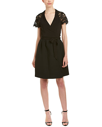 Diane von Furstenberg Elizabeth Lace-Trim Wrap Dress