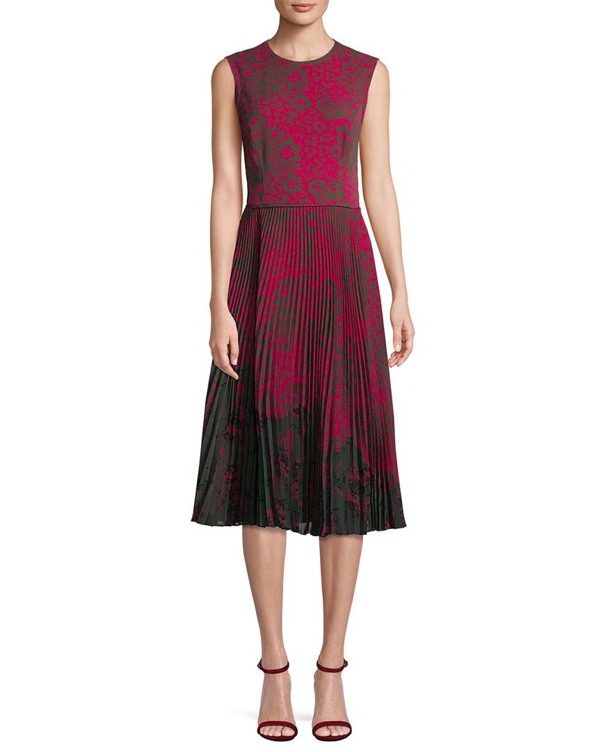 Jason Wu FLORAL PLEAT DRESS