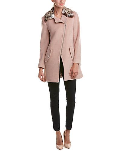 Rebecca Taylor Asymmetrical Wool-Blend Coat
