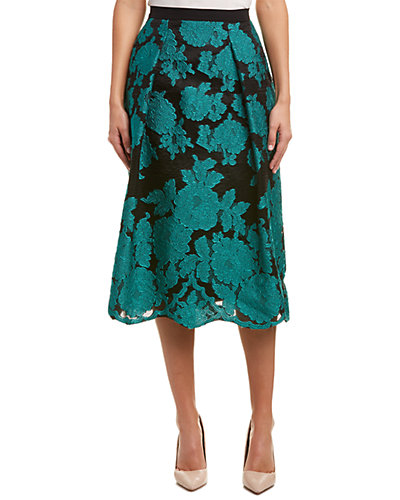 ESCADA Silk-Blend A-Line Skirt