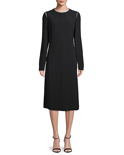 Rue La La — LANVIN Midi Silk-Lined Dress