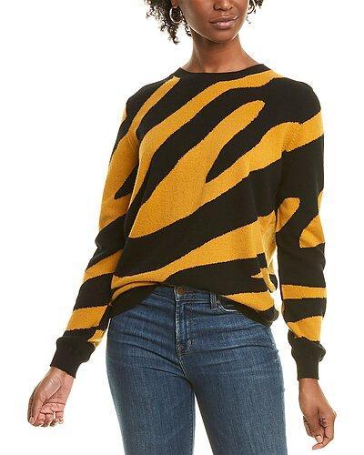 Rue La La — Scott & Scott London Printed Cashmere Sweater
