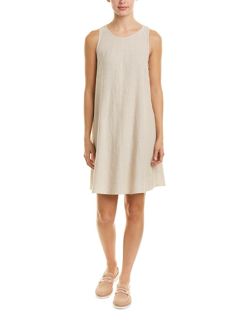 13b7f8d500 Three Dots Seamed Linen Shift Dress