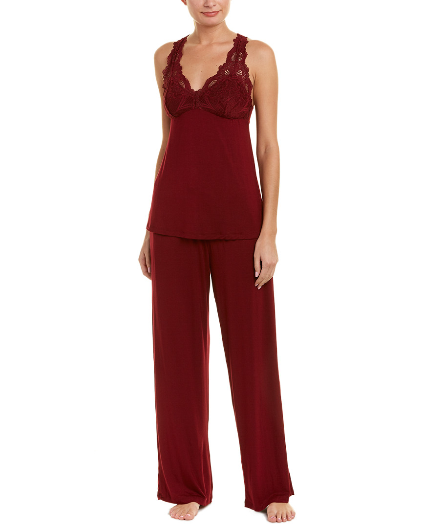 FLEUR'T 2Pc Cami & Pant Set in Red