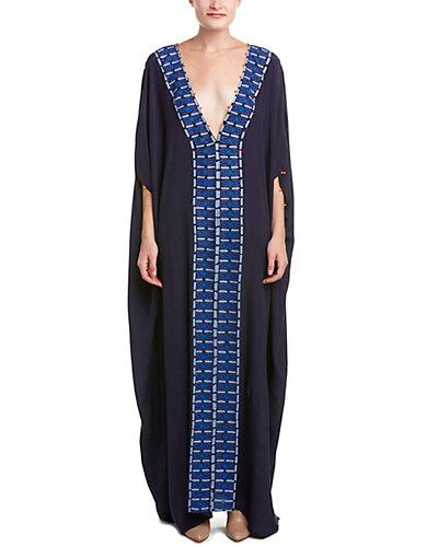 Hemant & Nandita Embroidered Silk Kaftan