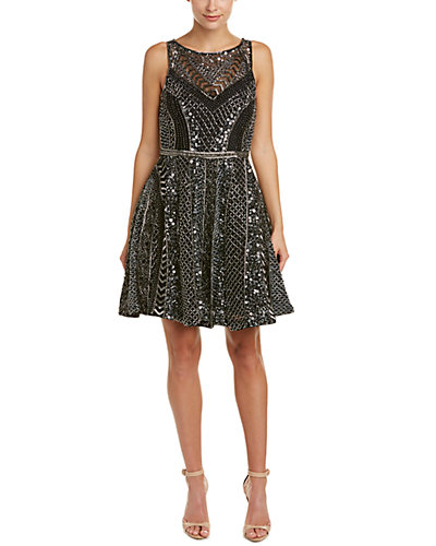 Parker Black Orlean Beaded Dress