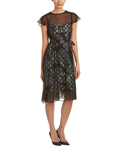 Teri Jon Silk A-Line Dress
