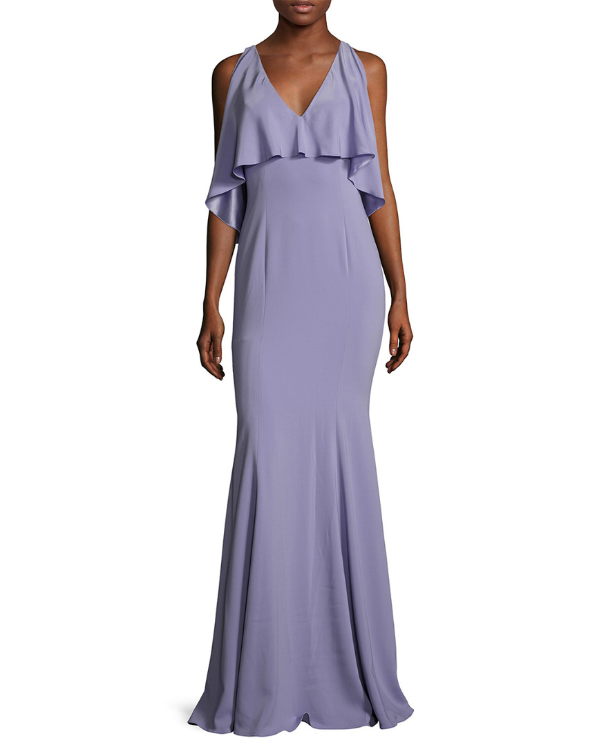 Jay Godfrey PAGE RUFFLE OVERLAY GOWN