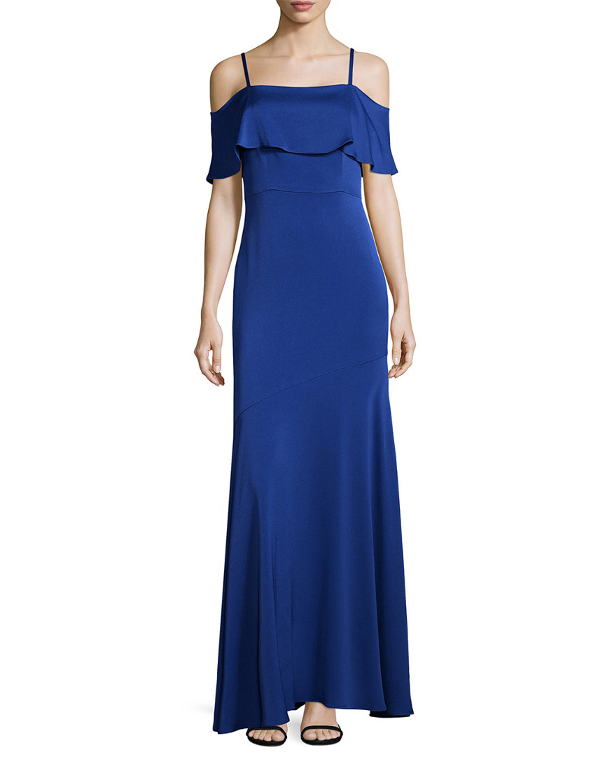 Shoshanna SOLID EVENING GOWN