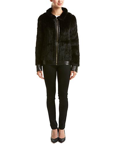 Love Token Mitch Leather-Trim Jacket