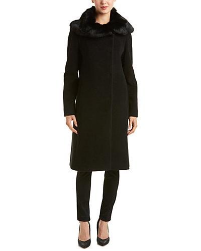 Cinzia Rocca Icons Wool & Cashmere-Blend Long Coat