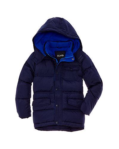 E-Land Kids Boys' Navy Down Jacket