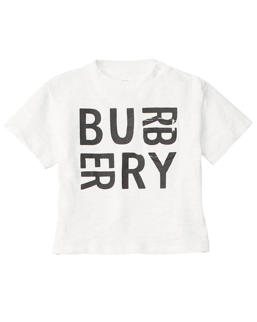 cacc49773 Burberry Boys Logo T-Shirt, 18M, White | eBay