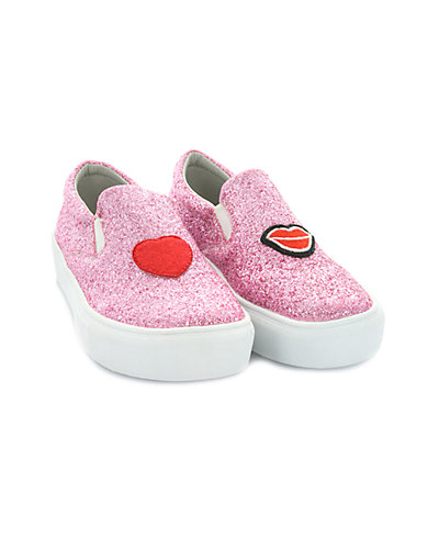 Rue La La — Hoo Ruby Heart & Lips Slip-On Sneaker