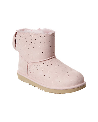 Rue La La — UGG Kids Mini Bailey Bow II Starry Lite Suede Boot
