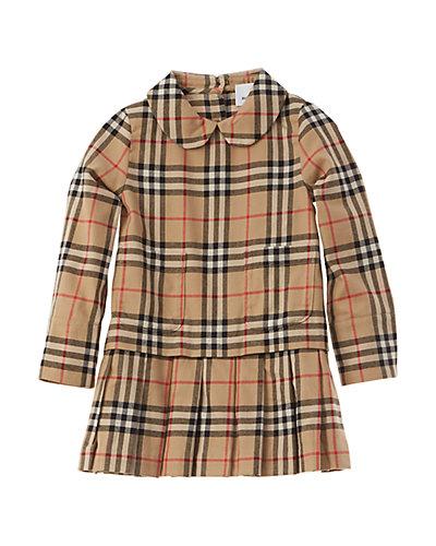 Rue La La — Burberry Peter Pan Collar Vintage Check Dress
