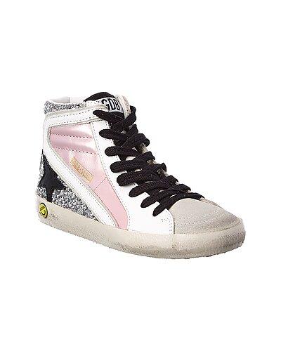Rue La La — Golden Goose Leather & Suede High-Top Sneaker