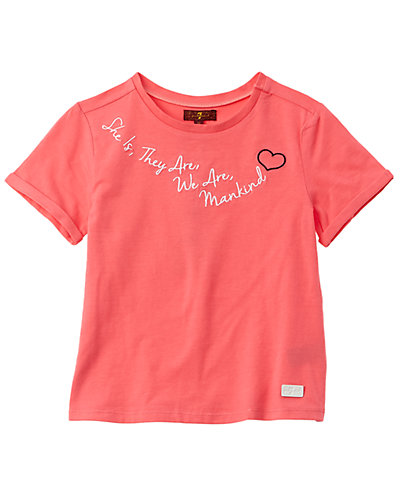 Rue La La — 7 For All Mankind Ringer Fitted T-Shirt