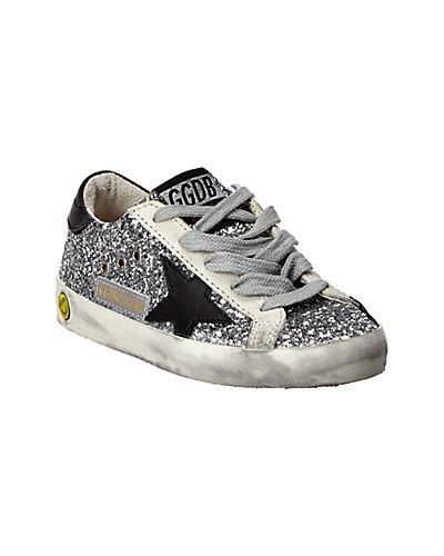 Rue La La — Golden Goose Suede & Glitter Sneaker