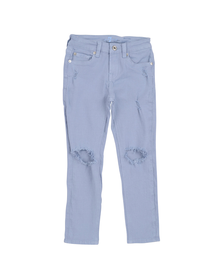 7 FOR ALL MANKIND SUNBLEACHED BLUE JEAN