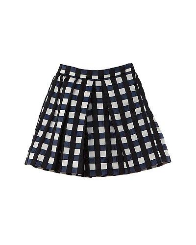 Rue La La — Oscar de la Renta Gingham Jacquard Skirt