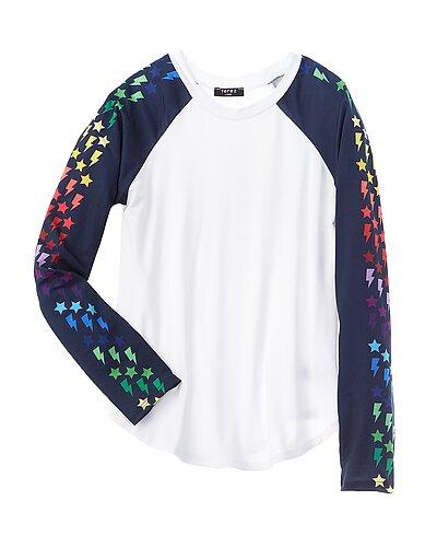 Rue La La — Terez Printed Sleeve Baseball T-Shirt