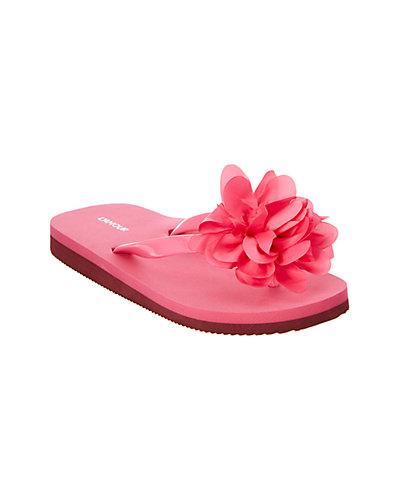 Rue La La — L'Amour Girls' Two-Tone Flower Flip-Flop