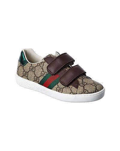 Rue La La — Gucci GG Supreme Canvas & Leather Sneaker