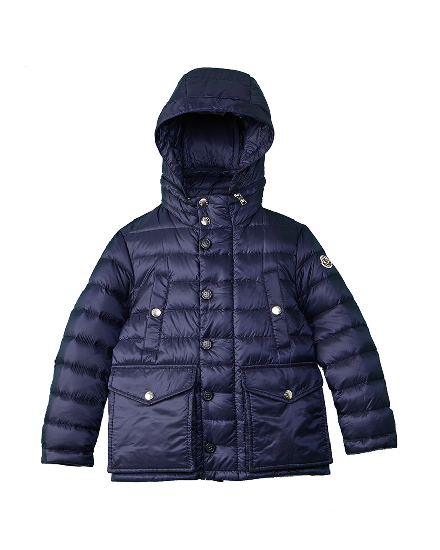 Moncler Boys Grey-blue Acorus Zip-up Down Puffer Jacket Sz 9y New Outerwear Kids' Clothing, Shoes & Accs