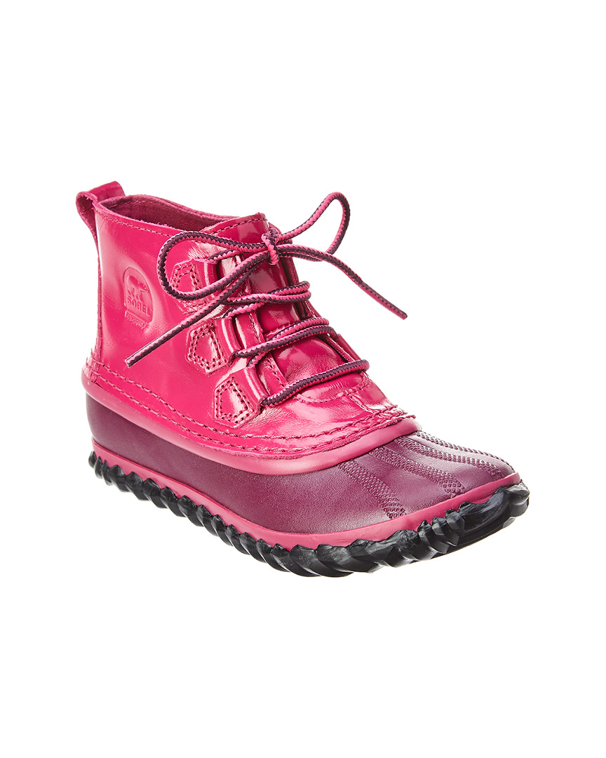 YOUTH OUT N ABOUT WATERPROOF PATENT BOOT