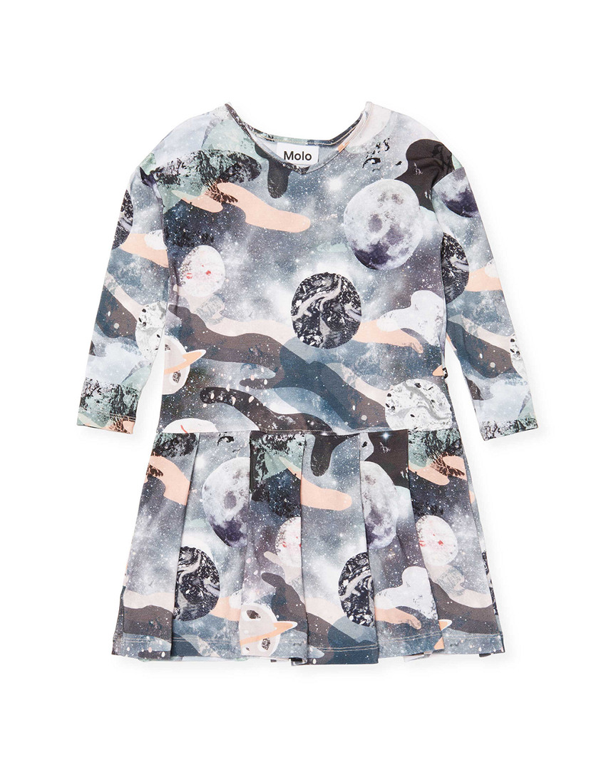Molo Clothing GALAXY PRINT PLEATED T